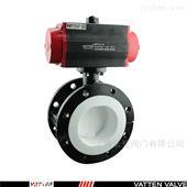 VT1ADW11A球铁法兰式全包胶型气动蝶阀,衬氟气动阀