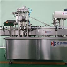 HCGX-50/100型水果视频污版下载免费机械有限公司糖浆口服液灌装旋轧盖机