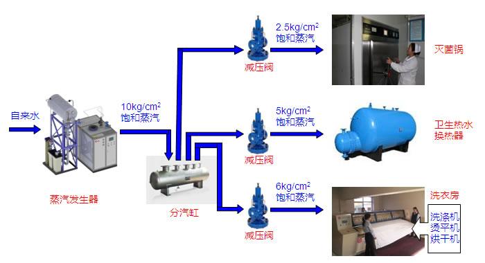纯蒸汽发生器工艺流程